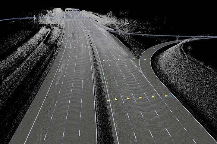 Noggranna kartor ger bilen koll på vart den ska köra.