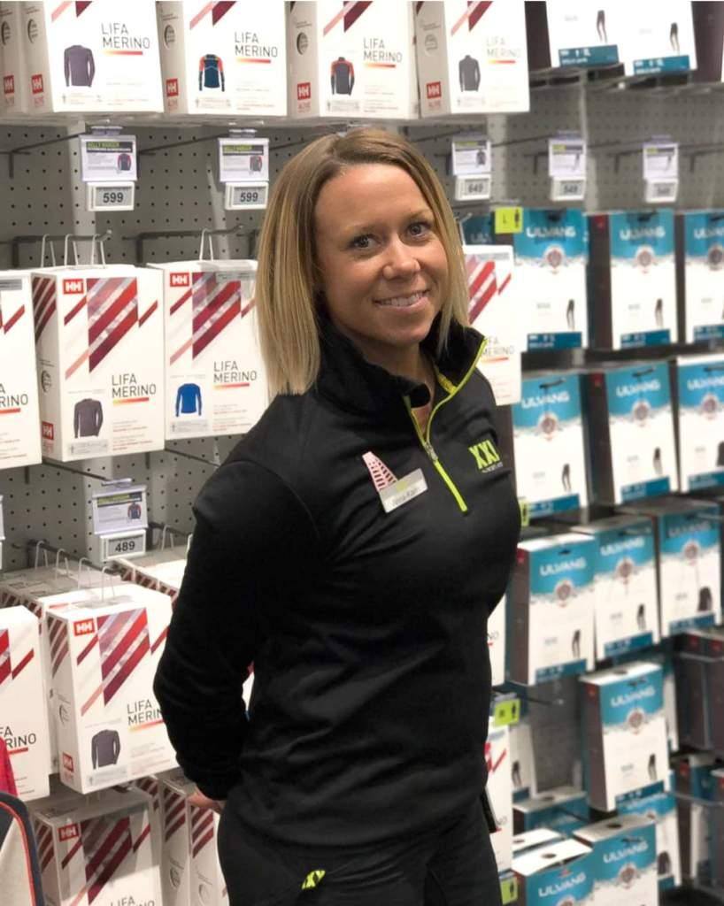 Anna-Karin Nylund jobbar på XXL-varuhuset i Sundsvall.