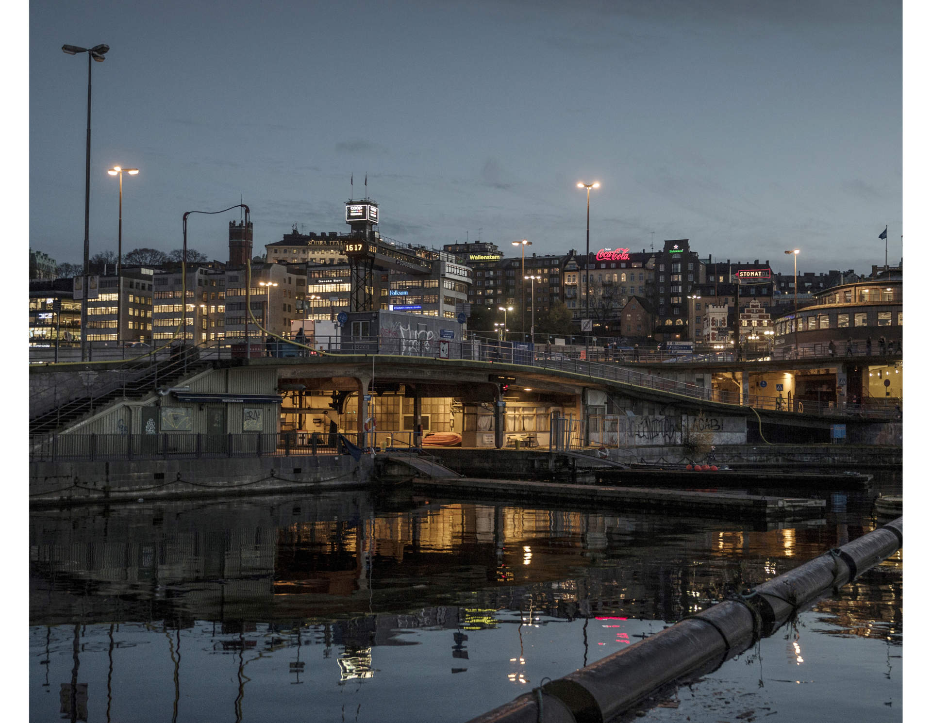 """Slussen"" in central Stockholm. Pekka and Matte spends many nights sleeping under the bridge. For a period they called it their home, before they were forced to leave because of heavy construction in the area"
