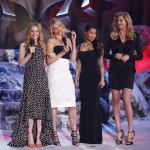 Tjejerna från filmen The other woman äntrar scenen: Leslie Mann, Cameron Diaz, Nicki Minaj och Kate Upton - eleganta chics!
