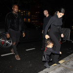 Kanye West, Kim Kardashian and their daughter North West attend the Balenciaga runway show as part of Paris Fashion Week Womenswear Spring/Summer 2015  Featuring: Kim Kardashian,Kanye West,North West Where: Paris, France When: 24 Sep 2014 Credit: WENN.com  **Not available for publication in France**