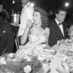 Sofia Loren Eating Dessert