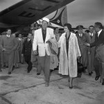 John Wayne and Sofia Loren Arrive in Rome