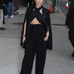 Jennifer Lopez arrives to the 'Late Show With David Letterman' at Ed Sullivan Theater