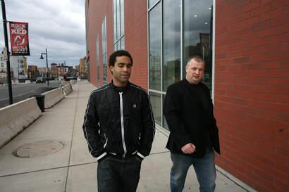 Bloggen och Oduya på tur i Jersey.