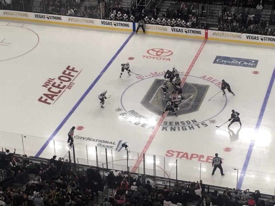 Here it is – första nedsläppet någonsin i T-Mobile Arena