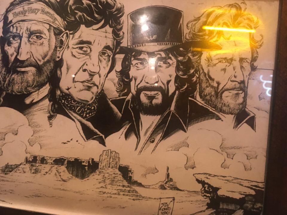 Originalhjältarna i stan: Willie Nelson, Johnny Cash, Waylon Jennings och Kris Kristoferson. Nu heter de Filip Forsberg, Victor Arvidsson, Mattias Ekholm och Calle Järnkrok.