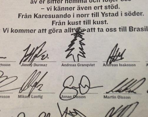 Autografer inget for olsson