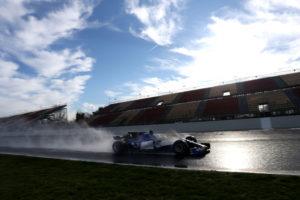 Antonio Giovinazzi (ITA), Sauber F1 Team. Wet test, Circuit de Catalunya.