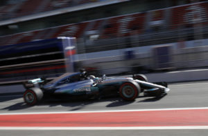 Mercedes driver Valtteri Bottas of Finland steers his car on the pit lane during a Formula One pre-season testing session at the Catalunya racetrack in Montmelo, outside Barcelona, Spain, Wednesday, March 1, 2017. (AP Photo/Francisco Seco)