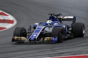 Sauber driver Marcus Ericsson of Sweden takes a curve during the qualifying session for the Austrian Formula One Grand Prix at the Red Bull Ring in Spielberg, Austria, Saturday, July 8, 2017. The Austrian Grand Prix will be held on Sunday. (AP Photo/Darko Bandic)