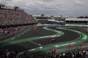 Drivers compete during the Formula One Mexico Grand Prix auto race at the Hermanos Rodriguez racetrack in Mexico City, Sunday, Oct. 30, 2016. Mercedes driver Lewis Hamilton won the race ahead of fellow Mercedes driver Nico Rosberg and Ferrari driver Sebastian Vettel. (AP Photo/Rebecca Blackwell)