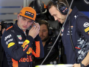 Red Bull driver Max Verstappen of the Netherlands prepares for the first practice session at the Japanese Formula One Grand Prix at Suzuka, Japan, Friday, Oct. 6, 2017. (AP Photo/Eugene Hoshiko)