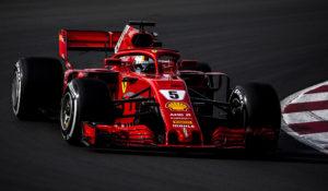 BARCELONA 2018-03-08SPORTTestvecka 2, Formel 1, Barcelona, Dag3Sebatian Vettel FerrariBILD: Stefan Jerrevång / 2800