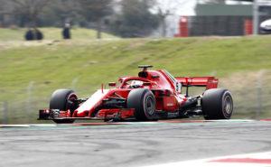 BARCELONA 2018-03-08 SPORT Testvecka 2, Formel 1, Barcelona, Dag3 Sebatian Vettel Ferrari BILD: Stefan Jerrevång / 2800