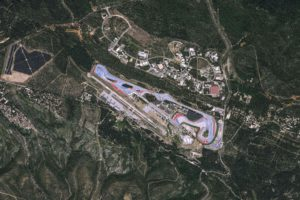 "TOPSHOT - This handout satellite image released on June 19, 2018 by Pleiades, Cnes 2017, Distribution Airbus DS shows an aerial view of Le Castellet racetrack in Le Castellet, southern France ahead of the 2018 French Grand Prix. / AFP PHOTO / Cnes 2017, Distribution Airbus DS / Handout / RESTRICTED TO EDITORIAL USE - MANDATORY CREDIT ""AFP PHOTO / PLEIADES/CNES 2017/DISTRIBUTION AIRBUS DS"" - NO MARKETING NO ADVERTISING CAMPAIGNS - DISTRIBUTED AS A SERVICE TO CLIENTS- IMAGE AVAILABLE FOR DOWNLOAD FOR 7 DAYS AFTER RELEASE"