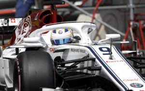 Sweden driver Marcus Ericsson steers his Sauber during the qualifying session at the Monaco racetrack, in Monaco, Saturday, May 26, 2018. The Formula one race will be held on Sunday. (AP Photo/Luca Bruno)