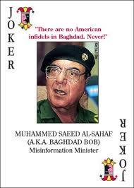 Saddam hussein spader ess i leken