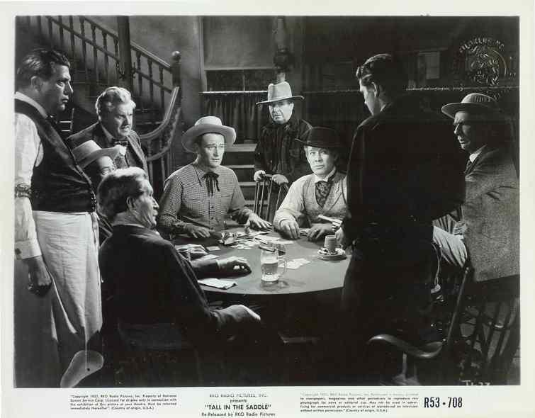 AA FILM JOHN WAYNE TALL IN THE SADDLE 1944