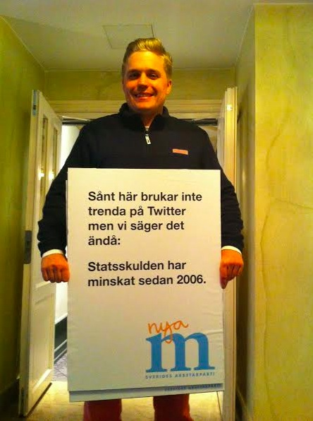 Moderaternas kommunikationschef Per Nilsson.