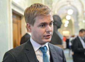 Nya utbildningsminister Gustav Fridolin. FOTO: Henrik Montgomery / TT