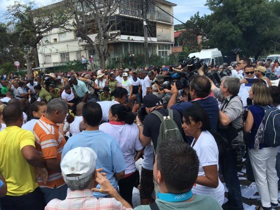 Här grips oppositionella bara timmar innan Obama landade på Kuba.