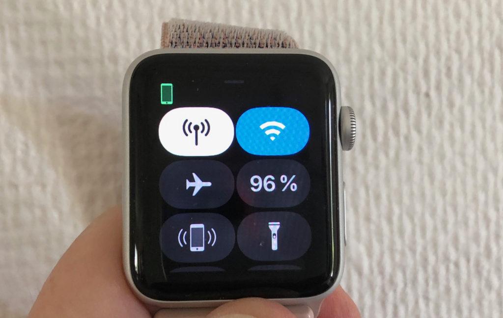 Nya mobilnätssymbolen visar om klockan är uppkopplad mot mobilnätet på egen hand.