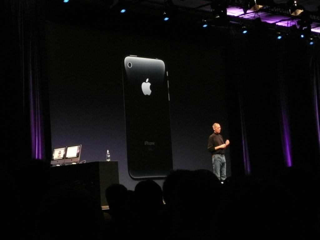 Appstore lanserades av Steve Jobs på WWDC i juni 2008 Foto: Peter Pettersson
