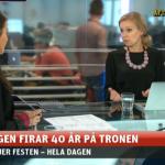 Aftonbladets livesändning kring kungens 40-årsjubileum, sept 2013.