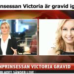 Live-sändning i samband med kronprinsessan Victorias graviditet.