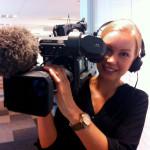 Lattjar med kameran när tyska ZDF är på besök., 2013.