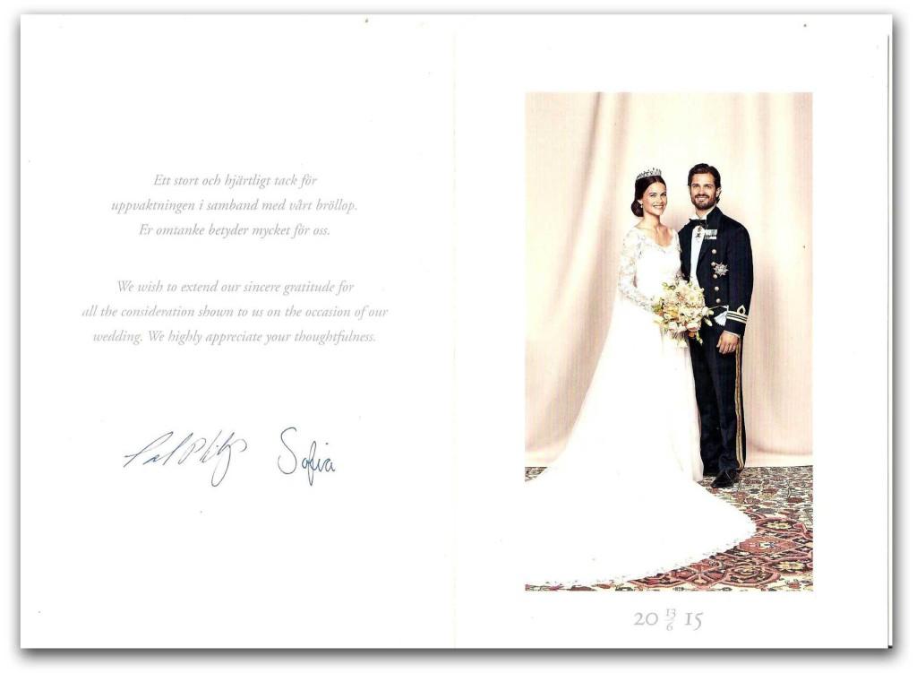 tackkort text födelsedag Ett tackkort från prins Carl Philip och prinsessan Sofia | Hovbloggen tackkort text födelsedag