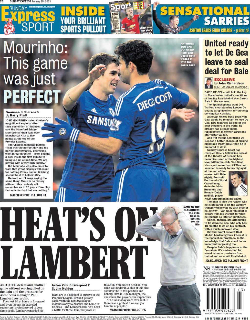 Det lilla vi vet med säkerhet är att David de Gea bara har 18 månader kvar  på sitt kontrakt med United. 9a0b5c64c0d10