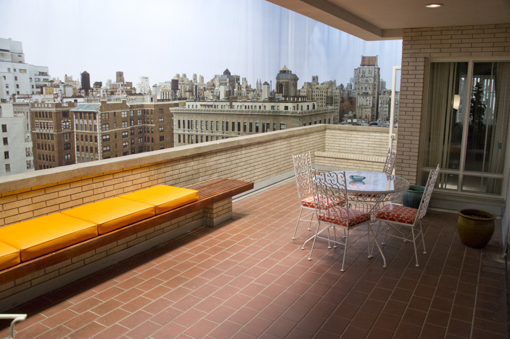 Don Drapers balkong