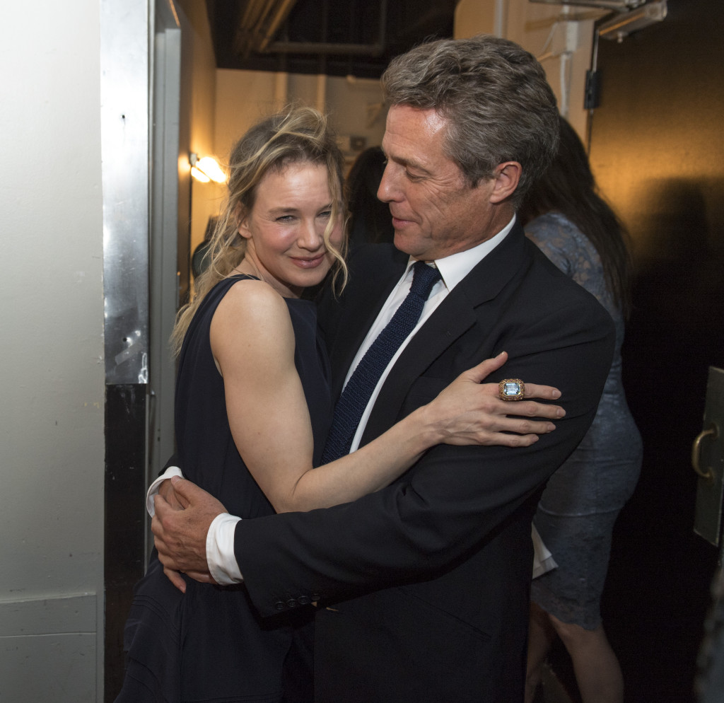Beverly Hills, CA. August 4, 2016 Hollywood Foreign Press Association presents annual Grants Dinner Thursday night from the Beverly Wilshire Hotel.  The HFPA will present more than $2.4 million in donations to non-profit entertainment-related organizations and scholarship programs.  Pictured: Renee Zellweger and Hugh Grant.