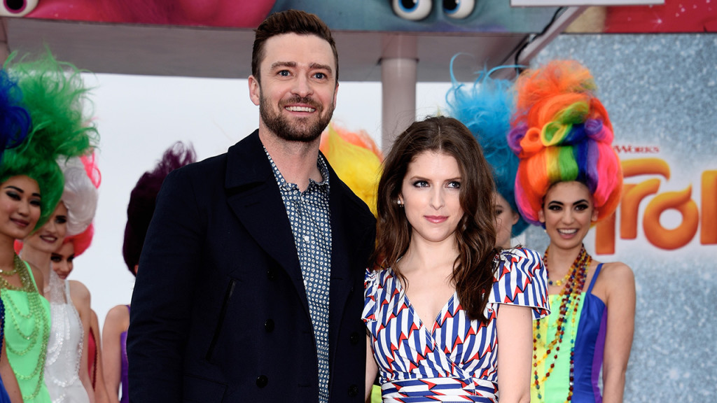 "CANNES, FRANCE - MAY 11: Justin Timberlake and Anna Kendrick attend the ""Trolls"" Photocall during The 69th Annual Cannes Film Festival on May 11, 2016 in Cannes, France. (Photo by Clemens Bilan/Getty Images)"