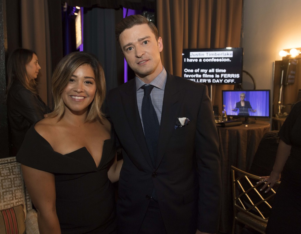 Beverly Hills, CA. August 4, 2016 Hollywood Foreign Press Association presents annual Grants Dinner Thursday night from the Beverly Wilshire Hotel.  The HFPA will present more than $2.4 million in donations to non-profit entertainment-related organizations and scholarship programs.  Pictured:  Gina Rodriguez and Justin Timberlake