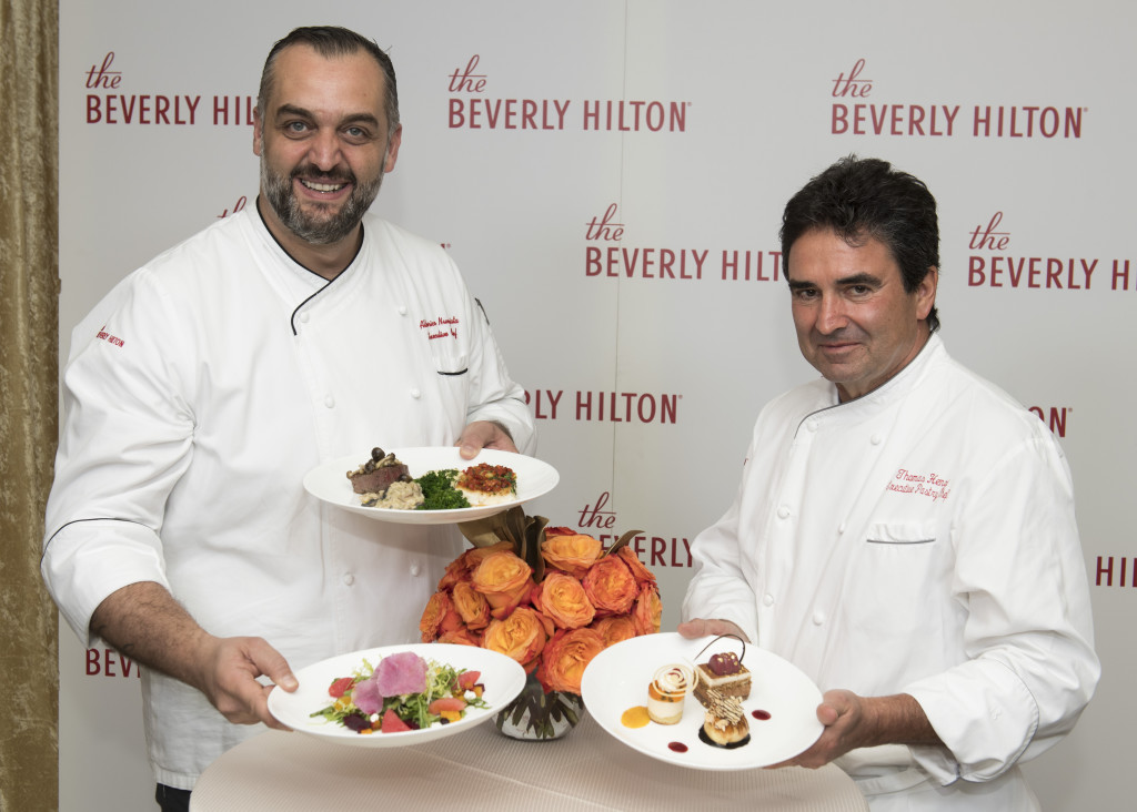 Executive Chef Alberio Nunziata and Executive Pastry Chef Thomas Henzi at the Menu Preview for the 74th Annual Golden Globe Awards at the Beverly Hilton Hotel in Beverly Hills, CA. Photo: Magnus Sundholm for the HFPA: