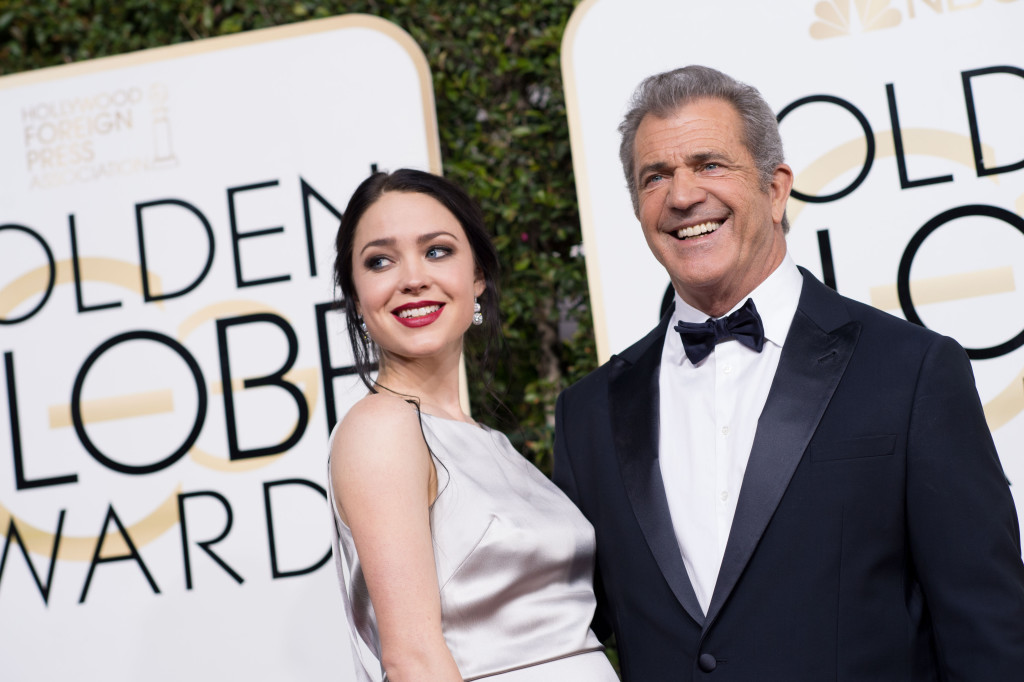 "Nominated for BEST DIRECTOR – MOTION PICTURE for ""Hacksaw Ridge,"" director Mel Gibson and screenwriter Rosalind Ross attend the 74th Annual Golden Globes Awards at the Beverly Hilton in Beverly Hills, CA on Sunday, January 8, 2017."