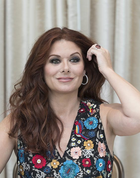 Debra Messing, who stars in 'Will and Grace', at the Beverly Hilton Hotel in Beverly Hills, CA. 08/03/2017. Photo: Magnus Sundholm