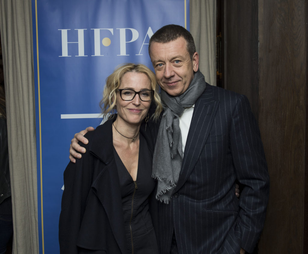 Gillian Anderson and Peter Morgan. Photo: Magnus Sundholm