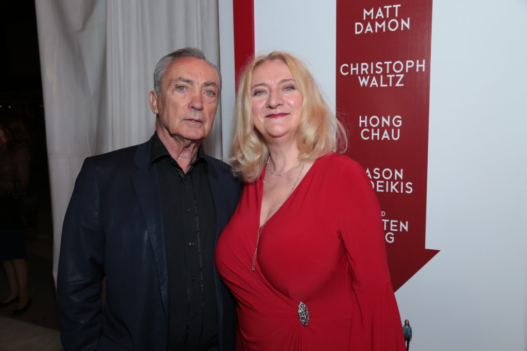 "Udo Kier and Margareta Pettersson pose together as Paramount Pictures presents a special screening of ""Downsizing"" in Los Angeles, CA at the Regency Village Theater in Los Angeles, CA on Monday, December 18, 2017..(Photo: Alex J. Berliner/ABImages)"