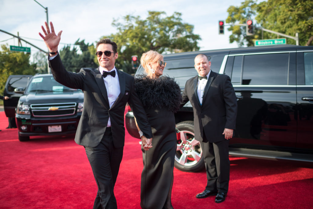 "Nominated for BEST PERFORMANCE BY AN ACTOR IN A MOTION PICTURE – COMEDY OR MUSICAL for his role in ""The Greatest Showman,"" actor Hugh Jackman and wife Deborra-lee Furness attend the 75th Annual Golden Globes Awards at the Beverly Hilton in Beverly Hills, CA on Sunday, January 7, 2018."