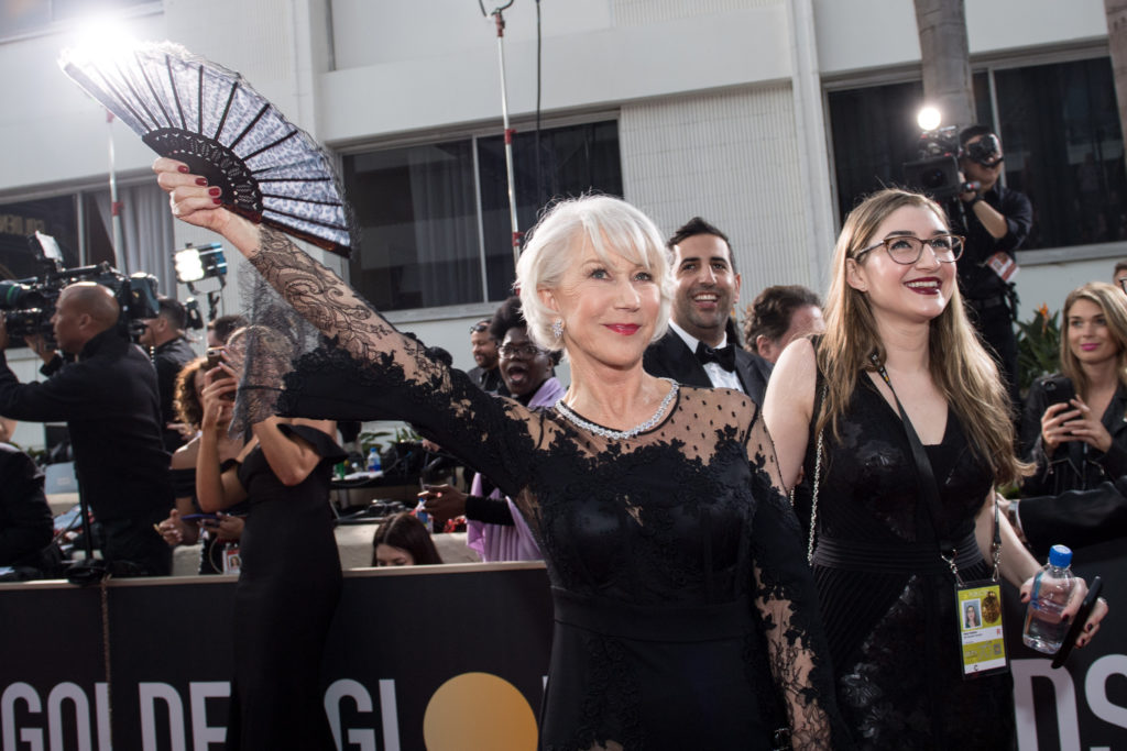 Helen Mirren attends the 75th Annual Golden Globes Awards at the Beverly Hilton in Beverly Hills, CA on Sunday, January 7, 2018.