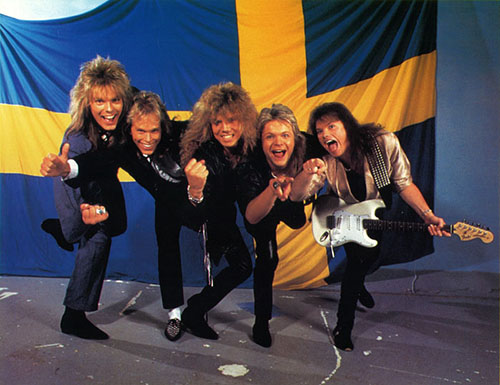 Det glada Europe på det glada 80-talet.
