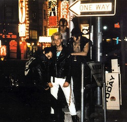 """The Misfits i New York, tidigt 1980-tal. Joseph """"Arthur Googy"""" McGuckin är tvåa från vänster, med ljust hår."""
