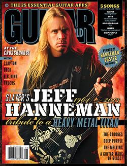Numret av Guitar World med nämnda artikel.