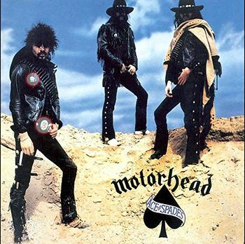 """""""Ace of spades""""-omslaget, med Snaggletooth inringade."""