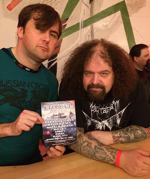 """Napalm Deaths Mark """"Barney"""" Greenway och Shane Embury minns fortfarande att de för några år sedan drog till sjöss tillsammans med Close-Up Magazine."""