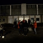 När natten faller är det fältare och ungdomar som syns ute på Landskronas gator.